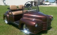 40's Old Coupe Custom Golf Cart Body Kit CLUB CAR DS or YAMAHA G-14 TO G22