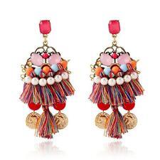 Casual Bohemian Earring Women Long Tassel Fringe Boho Dangle Earrings Jewelry OC