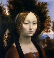 Leonardo da Vinci, Ginevra de' Benci, 1474-78, Museum Art, Canvas Print