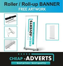 Roller Banner Display Stand - Pull/Roll Up Sign - 200cm x 85cm - FREE DESIGN