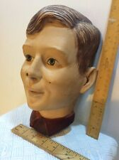 VINTAGE MALE MANNEQUIN HEAD SHOP DISPLAY