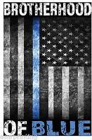 Brotherhood of Blue Line American Flag Sublimated T-Shirt