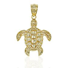 Small Turtle Charm, 10k Solid Gold