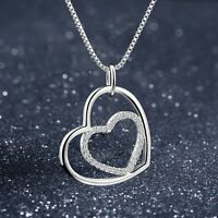 Special Hot Gift Elegant Woman Fashion Chain Necklace Pendant 925 Silver Jewelry