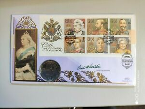 1999 20th C. British Monarchs - Isle of Man + Crown - signed Annette Crosby