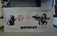 Banksy Dismaland Pochoirs sur carton 71x35cm 2015