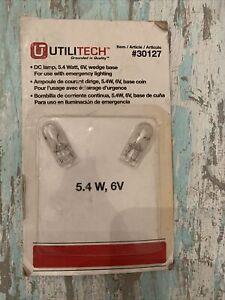 New Utilitech DC Lamp Set of 2 5.4 Watt 6V Wedge Base Item 30127