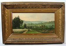 Landschaft landscape á villers 15. Juin 90 Monogramm GS Oel Leinwand