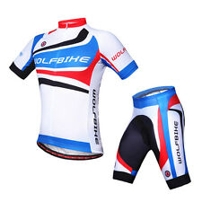MTB Bicycle Jersey Kits Mens GEL Padded Lycra Shorts Cycling Sportswear US XXL