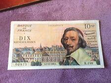 Billets, France, 10 Nouveaux Francs, 10 NF 1959-1963 ''Richelieu''