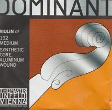 Cordes à l'unité Violon DOMINANT 4/4 médium Synthétic N°132 4/4 - Corde Ré