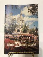 Vintage 1978 WALT DISNEY WORLD Park Guide  Book Pamphlet Souvenir Magic Kingdom