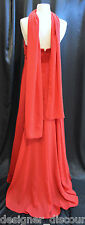 Davids Bridal F11139 Poppy Red formal evening bridesmaid gown Davids Dress SZ 8