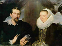 Oil Anthony van Dyck - Double Portrait of the Painter Frans Snyders and his Wife