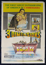 FORT TI 1953 3D Movie Poster One Sheet 40x27