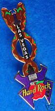 Las Vegas Sin City Twin Snakes Purple Custom Guitar Hard Rock Cafe Pin