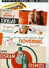 LOT  BUVARDS B1B. OSRAM NOVEMAIL OPTRAEX OPTICIL...