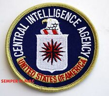 CENTERAL INTELLIGENCE AGENY CIA EMBROIDERED HAT PATCH EAGLE SEAL LOGO PIN UP WOW