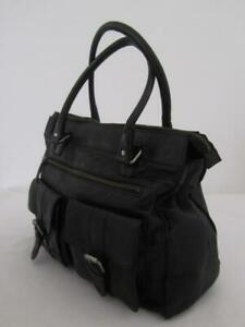 COUNTRY ROAD Large Tote Bag Genuine Black Soft LEATHER Ladies Bag