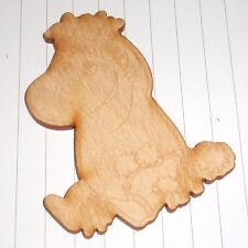 KAWAII Rétro contreplaqué gravé en bois grand Moomin Snork Maiden Cabochon
