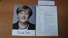 Original signierte Autogrammkarte von der Bundeskanzlerin Angela Merkel
