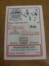 11/02/1989 dover Athletic V Worcester City. condizione: aspiriamo a ispezionare al