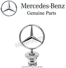 Mercedes W204 W211 W212 W221 Front Hood Star Emblem Chrome Symbol Badge Genuine