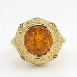 VICTORIA WIECK 2.48CT FIRE OPAL TAPERED CITRINE VERMEIL RING SIZE 6 HSN SOLD OUT