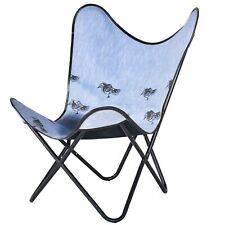 Sapprow Hand block Printed Fabric Butterfly Chair, Knock Down Chair