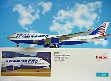 Modellismo Herpa Modellino Aereo Transaero Airlines Boeing 747-400