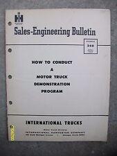 Vintage International Harvester IH 1969 Motor Truck Demo Program Bulletin 20-pgs
