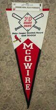 VINTAGE MLB BASEBALL PENNANT MARK MCGWIRE 1998 70 HOME RUNS CARDINALS b48c ST135