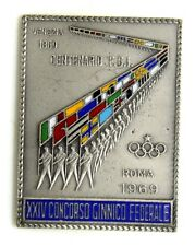 Spilla Centenario FGI Federazione Ginnastica Italiana XXIV Concorso Ginnico Fede