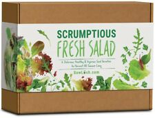 Scrumptious Fresh Salad Gift Seed Kit. 6 Delicious, Grow Your Own Varieties to H