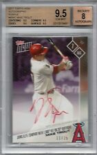 2017 Topps Now Purple Mike Trout 1,000th Hit On 26th B-Day Auto BGS 9.5   /25