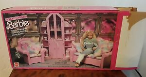 VINTAGE 1987 Mattel Barbie Sweet Roses 3-Piece Wall Unit - Complete Original Box