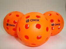 3 ONIX PURE2 PICKLEBALL BALLS OUTDOOR PURE 2 TRUE BOUNCE USAPA ORANGE