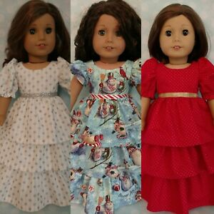 """18"""" Doll Christmas Dress fits 18 inch American Girl Doll Clothes cd51abc"""