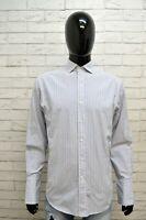 RALPH LAUREN Uomo Camicia a Righe Camicetta Maglia  Collo 15.5 Shirt Man Cotone