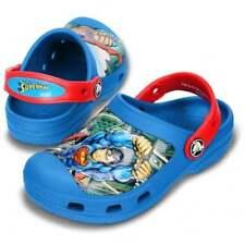 Brand New Genuine Creative Crocs Superman Sabots Bleu Mer/Rouge UK 6/7