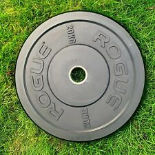 Rogue Fitness Echo Black 2x20kg Olympic Bumper Plates CrossFit Weightliftin USED