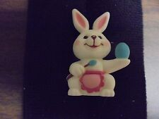 """Russ Berrie Miniature Painting Easter Bunny Shadow Box 1 5/8"""""""