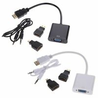 1080P Micro-MI/Mini MI/MI to VGA Converter Adapter With Audio Video C X8W5