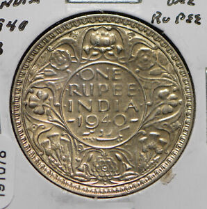India British 1940 Rupee 191078 combine