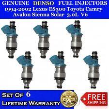 Six Fuel Injectors Toyota Lexus ES300 RX300 3.0L V6 6 Cylinder 1MZFE OEM Factory