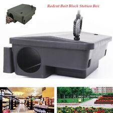 2.4inch Rat Mice Mouse Rodent Poison Pest Control Bait Station Box TrapKey Black