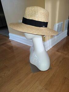 Brixton Joanna Women's Wide Brim Straw Sun Hat Honey Choose Size