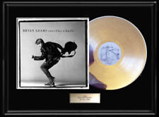 Bryan Adams Cuts Like A Knife Album Framed Lp White Gold Silver Record Rare