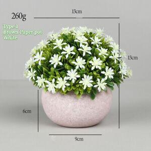 1PC Artificial Bonsai Coral Leaf Camellia Faux Potted Flower Home Houseplant