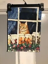 Mini Garden Yard Flag New Cat In The Window Free Fast Shipping